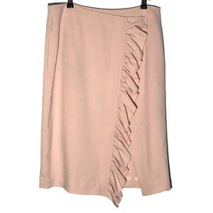 Worthington Blush Pink Ruffled Skirt